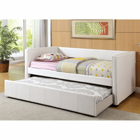 Furniture of America FOA-CM1955WH-BED Cadiz Contemporary Daybed w/ Trundle, White