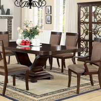 7fd4e00b2a Furniture of America FOA-CM3663T-TABLE Woodmont Contemporary Dining Table