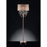 Furniture of America FOA-L95126F Cecelia Traditional Floor Lamp, Hanging Crystal