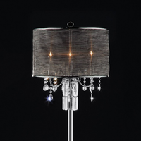 Furniture of America FOA-L95127F Gina Glam Floor Lamp, Hanging Crystal