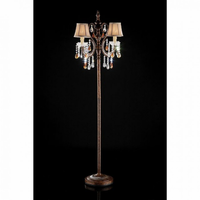 Furniture of America FOA-L95113F Juliet Traditional Floor Lamp, Hanging Ornament