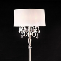 Furniture of America FOA-L95109F Sophy Glam Floor Lamp, Hanging Crystal