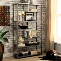 Furniture of America FOA-CM-AC521 Susie Industrial Display Shelf