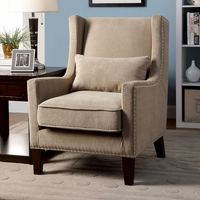 Furniture of America FOA-CM-AC6115IV Tomar Transitional Accent Chair, Ivory