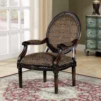 Furniture of America FOA-CM-AC6143 Patsy Hand-Carved Look Accent Chair