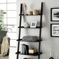 Furniture of America FOA-CM-AC6213BK Sion Contemporary Ladder Shelf, Black