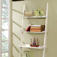 Furniture of America FOA-CM-AC6213WH Sion Contemporary Ladder Shelf, White