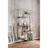 Furniture of America FOA-CM-AC6264CRM Elvira Contemporary Display Shelf, Chrome