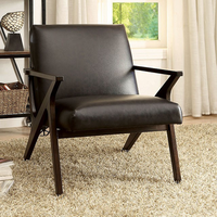 Furniture of America FOA-CM-AC6265BR Dubois Contemporary Accent Chair, Brown
