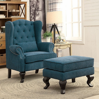 Furniture of America FOA-CM-AC6271TL-CH Willow Traditional Accent Chair, Teal