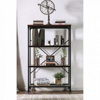 Furniture of America FOA-CM-AC6278-L Ventura Ii Industrial Bookshelf, Large