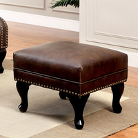 Furniture of America FOA-CM-AC6801BR-OT Vaugh Traditional Ottoman