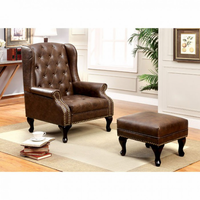Furniture of America FOA-CM-AC6801BR Vaugh Traditional Accent Chair