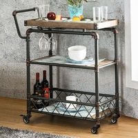 Furniture of America FOA-CM-AC6847 Serving Cart Antique Black