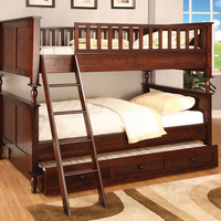 Furniture of America FOA-CM-BK001F-BED Radcliff Cottage Twin/full Bunk Bed