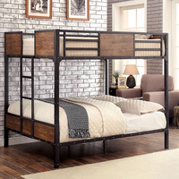 Furniture of America FOA-CM-BK029TF Clapton Industrial Twin/full Bunk Bed