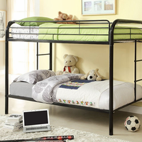 Furniture of America FOA-CM-BK1032-BK Rainbow Contemporary Twin/twin Bunk Bed, Black