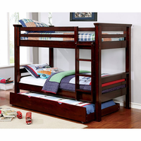 Furniture of America FOA-CM-BK450TQ-BED Marcie Transitional Twin/queen Bunk Bed