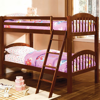 Furniture of America FOA-CM-BK524-CH-BED Coney Island Cottage Twin/twin Bunk Bed, Cherry Finish