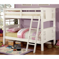 Furniture of America FOA-CM-BK602T-WH-BED Spring Creek Cottage Twin/twin Bunk Bed, White