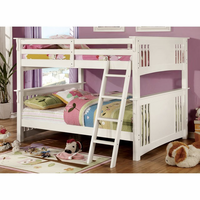 Furniture of America FOA-CM-BK603WH-BED Spring Creek Cottage Full/full Bunk Bed, White Finish