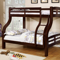 Furniture of America FOA-CM-BK618EX-BED Solpine Transitional Twin/full Bunk Bed, Dark Walnut