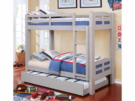 Furniture of America FOA-CM-BK618GY-BED Solpine Transitional Twin/full Bunk Bed, Gray