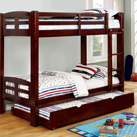 Furniture of America FOA-CM-BK618T-EX-BED Solpine Transitional Twin/twin Bunk Bed, Espresso