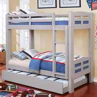 Furniture of America FOA-CM-BK618T-GY-BED Solpine Transitional Twin/twin Bunk Bed, Gray