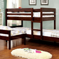 Furniture of America FOA-CM-BK626-BED Ranford Transitional Twin/twin/twin Bunk Bed