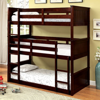Furniture of America FOA-CM-BK628-BED Therese Transitional Twin Triple Decker Bed