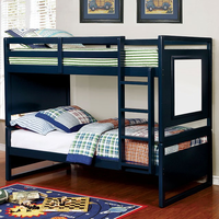 Furniture of America FOA-CM-BK901BL-BED Glendale Transitional Twin/twin Bunk Bed, Blue