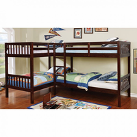 Furniture of America FOA-CM-BK904-BED Marquette Transitional Quadruple Twin Bunk Bed