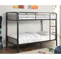 Furniture of America FOA-CM-BK928FF-BED Clement Contemporary Metal Full/full Bunk Bed