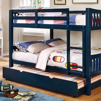 Furniture of America FOA-CM-BK929BL-BED Cameron Transitional Twin/twin Bunk Bed, Blue Finish