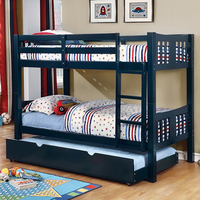 Furniture of America FOA-CM-BK929EX-BED Cameron Transitional Twin/twin Bunk Bed, Espresso Finish