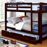 Furniture of America FOA-CM-BK929F-EX-BED Cameron Transitional Twin/twin Bunk Bed, Dark Walnut
