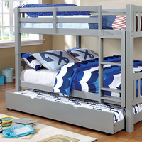 Furniture of America FOA-CM-BK929F-GY-BED Cameron Transitional Twin/twin Bunk Bed, Gray