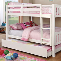 Furniture of America FOA-CM-BK929F-WH-BED Cameron Transitional Twin/twin Bunk Bed, White