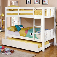 Furniture of America FOA-CM-BK929WH-BED Cameron Transitional Twin/twin Bunk Bed, White Finish