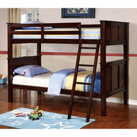 Furniture of America FOA-CM-BK930TQ-BED Gracie Transitional Twin/queen Bunk Bed