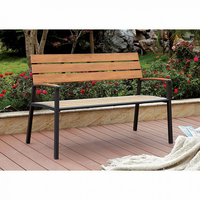Furniture of America FOA-CM-BN1869A Isha Transitional Outdoor Bench, Oak