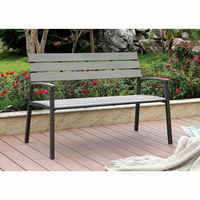 Furniture of America FOA-CM-BN1869GY Isha Transitional Outdoor Bench, Gray