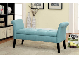 Furniture of America FOA-CM-BN6190BL Doheny Contemporary Storage Bench, Blue Finish