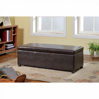 Furniture of America FOA-CM-BN6197 Fallon Contemporary Storage Ottoman