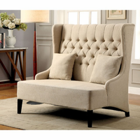 Furniture of America FOA-CM-BN6247 Lavre Contemporary Love Seat w/ 2 Pillows