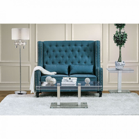 Furniture of America FOA-CM-BN6449TL-PK Alicante Transitional Love Seat Bench, Dark Teal