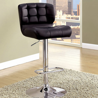 Furniture of America FOA-CM-BR6152BK Kori Contemporary Bar Stool, Black