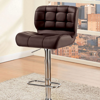 Furniture of America FOA-CM-BR6152BR Kori Contemporary Bar Stool, Brown