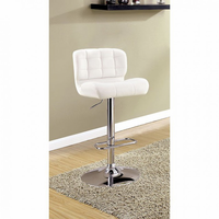 Furniture of America FOA-CM-BR6152WH Kori Contemporary Bar Stool, White